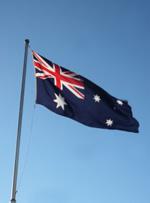 Australische Flagge - Auswandern nach Australien