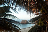 Belize Ausblick auf das Meer