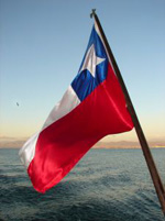 Flagge in Chile