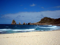 Strand in Guadeloupe
