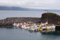 Hafen in Island