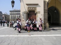 Strassenmusiker in Polen