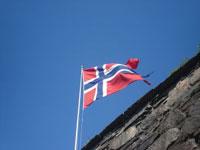 Auswandern nach Norwegen - Flagge