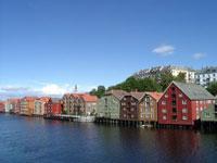Altstadt Trondheim, Norwegen