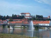 Die Stadt Ptuj in Slowenien