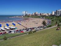 Ein Strand in Argentinien