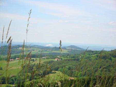 Blick vom Feldberg  bis zu den Weißen Kali-Gruben im Fuldatal