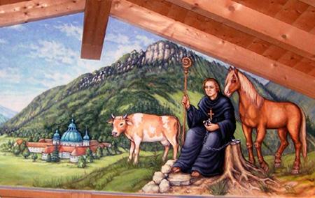 Gemälde in der klostereigenen Käserei