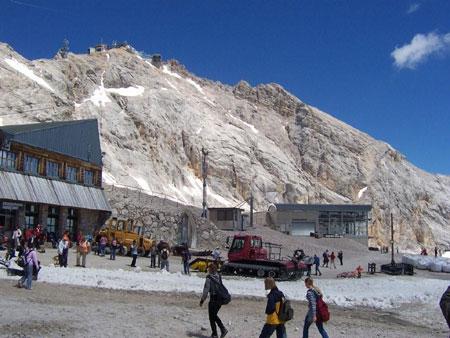 gletscherbahnhof zugspitzp
