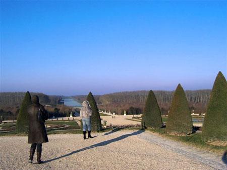 Park-Landschaft im Schloßpark von Versailles