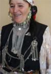 Frau in Algerien mit Silberschmuck