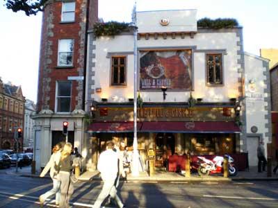 Ein Cafe in Dublin