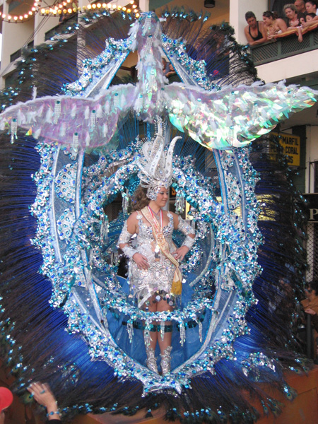 Fiesta beim Karneval in Puerto de la Cruz