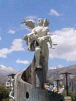 Engels Statue in Peru