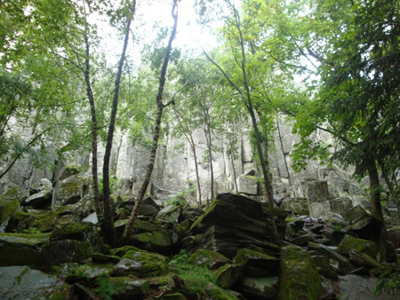 Die Steinwand in der Rhön