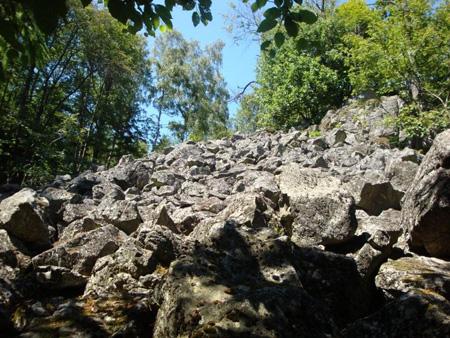 Typisches Basaltblockmeer