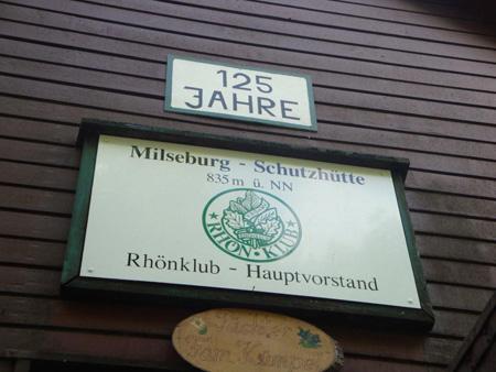 Berghütte des Rhönklubs, aber Speisen und Getränke für Jedermann