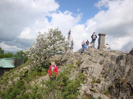Gipfelkreuz auf der Milseburg, 835 Meter hoch