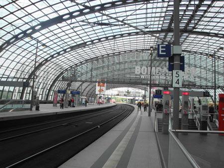 Obere Gleishalle, Hauptbahnhof Berlin