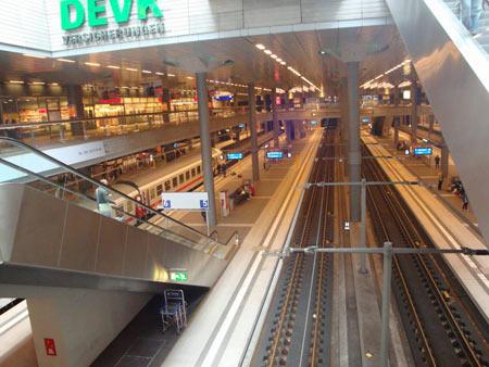 Die verschiedenen Ebenen des Bahnhofs