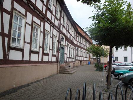 Fachwerkhäuserwand in Lauterbach / Hessen