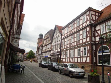 Geschäftsstraße in Lauterbach