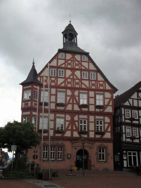 Rathaus von Grünberg in Hessen