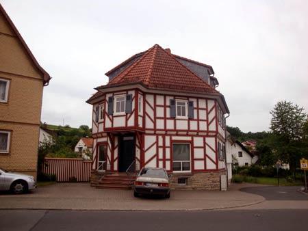 Markantes Fachwerkhaus