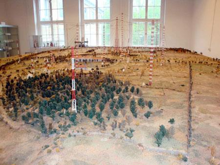 Im Museum: Ein Modell der Sendeanlagen