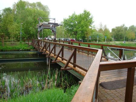 Klappbrücke in Königs Wusterhausen.