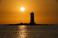 Leuchtturm am Meer auf Sardinien