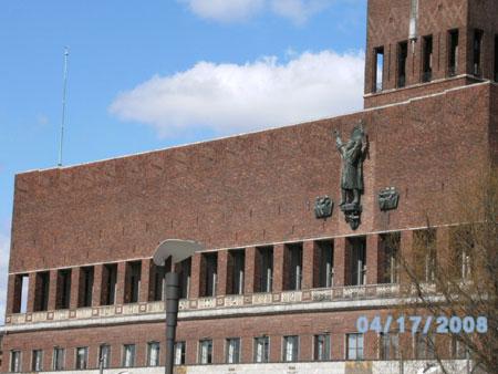 Das Rathaus aus der Nähe