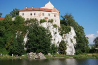 Eine Burg in Polen