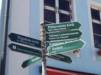 Verkehrsschilder in Estland