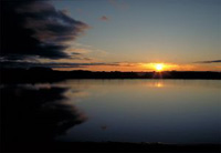 Sonnenuntergang in Island