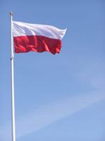 Die Polnische Flagge