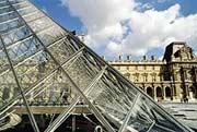 Paris am Louvre auf einer Sprachreise