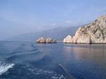 Insel Limnos, Felsen vom Meer aus