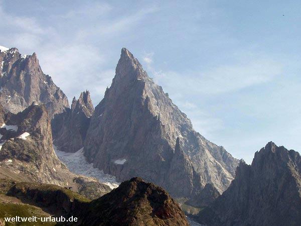 am Mont Blanc, dem Monte Biancho