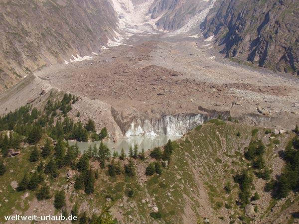 Miage Gletscher
