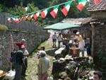 Fest in Lombarrdei, Italien