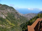 Berge und Täler auf La Gomera, Kanaren