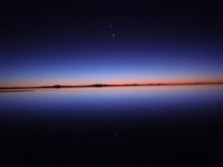 noch nachts in der Salar Uyuni