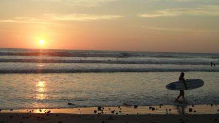 Sonnenuntergangsurf