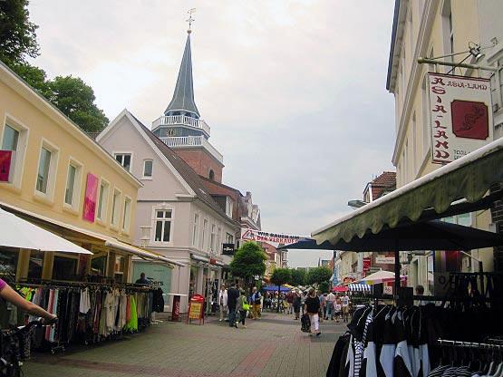 Die Fußgängerzone von Aurich