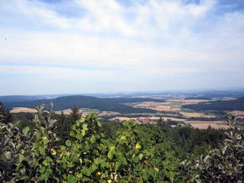 Aussicht in Richtung Veste Coburg