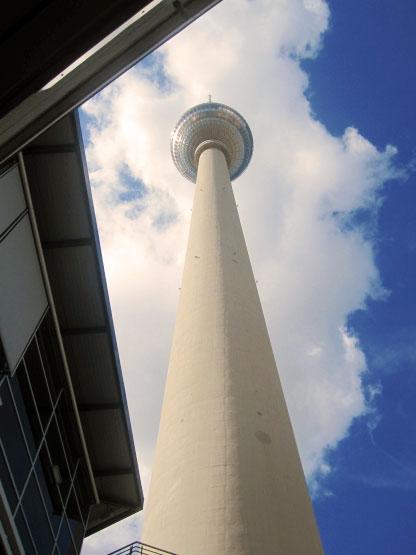 Berlin Fernsehturm, drehendes Restaurant in 207m Höhe