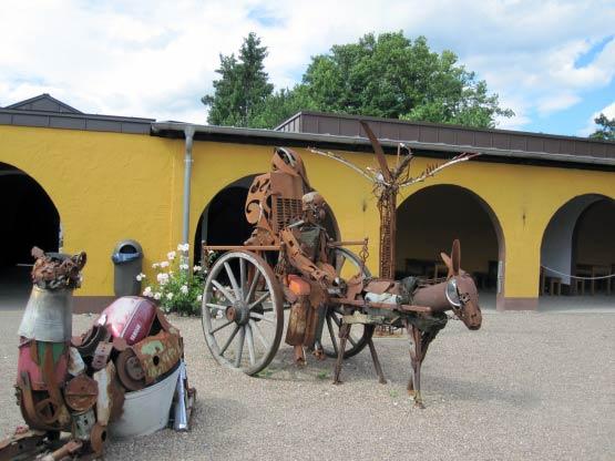 Origineller Eselskarren, Bibeldorf Rietberg