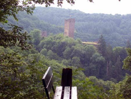 Blick Burg Manderscheid