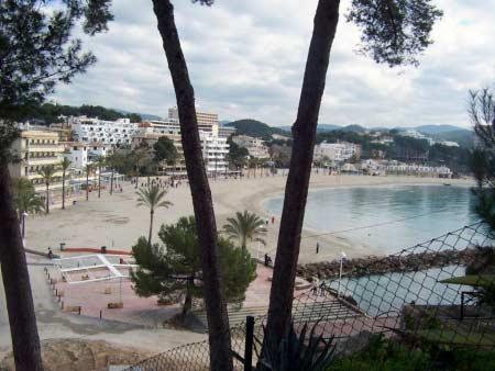 Blick Paguera Strand